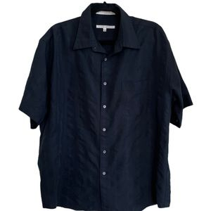 Perry ellis button down wide striped casual shirt